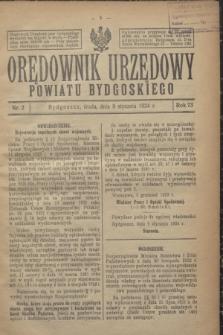 Orędownik Urzędowy Powiatu Bydgoskiego. R.73, nr 2 (9 stycznia 1924)
