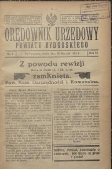 Orędownik Urzędowy Powiatu Bydgoskiego. R.73, nr 3 (16 stycznia 1924)