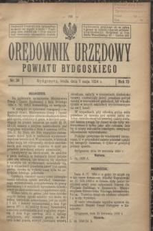 Orędownik Urzędowy Powiatu Bydgoskiego. R.73, nr 20 (7 maja 1924)