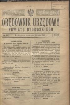 Orędownik Urzędowy Powiatu Bydgoskiego. R.73, nr 23 (28 maja 1924)