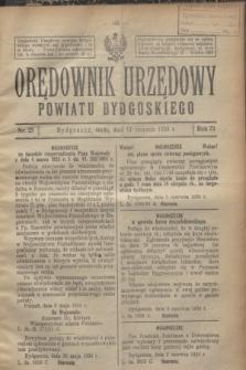 Orędownik Urzędowy Powiatu Bydgoskiego. R.73, nr 25 (11 czerwca 1924)