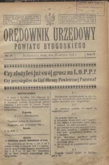 Orędownik Urzędowy Powiatu Bydgoskiego. R.73, nr 35 (20 sierpnia 1924)