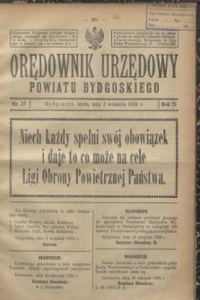 Orędownik Urzędowy Powiatu Bydgoskiego. R.73, nr 37 (3 września 1924)