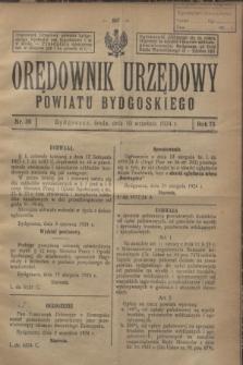 Orędownik Urzędowy Powiatu Bydgoskiego. R.73, nr 38 (10 września 1924)