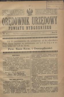 Orędownik Urzędowy Powiatu Bydgoskiego. R.73, nr 45 (29 października 1924)