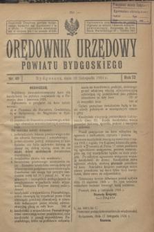 Orędownik Urzędowy Powiatu Bydgoskiego. R.73, nr 49 (26 listopada 1924)