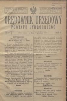 Orędownik Urzędowy Powiatu Bydgoskiego. R.73, nr 51 (10 grudnia 1924)