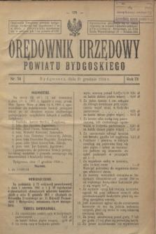 Orędownik Urzędowy Powiatu Bydgoskiego. R.73, nr 54 (31 grudnia 1924)