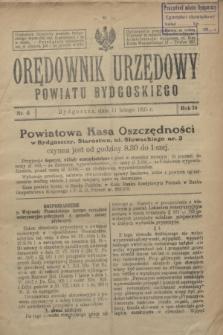 Orędownik Urzędowy Powiatu Bydgoskiego. R.74, nr 6 (11 lutego 1925)
