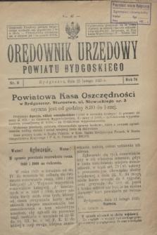 Orędownik Urzędowy Powiatu Bydgoskiego. R.74, nr 8 (25 lutego 1925)