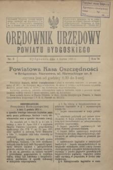Orędownik Urzędowy Powiatu Bydgoskiego. R.74, nr 9 (4 marca 1925)