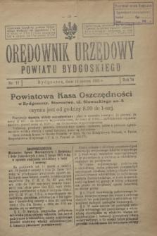 Orędownik Urzędowy Powiatu Bydgoskiego. R.74, nr 11 (18 marca 1925)