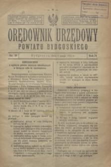 Orędownik Urzędowy Powiatu Bydgoskiego. R.74, nr 18 (6 maja 1925)