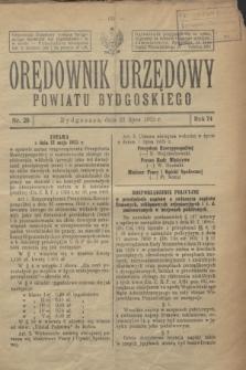 Orędownik Urzędowy Powiatu Bydgoskiego. R.74, nr 29 (22 lipca 1925)