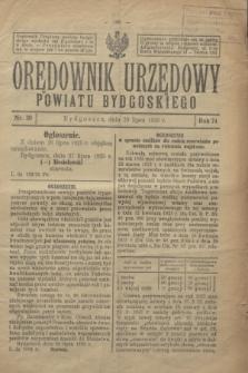 Orędownik Urzędowy Powiatu Bydgoskiego. R.74, nr 30 (29 lipca 1925)