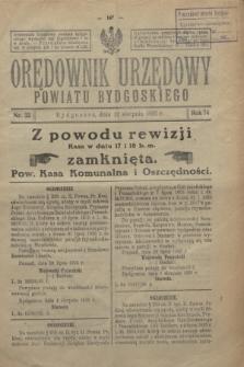 Orędownik Urzędowy Powiatu Bydgoskiego. R.74, nr 32 (12 sierpnia 1925)