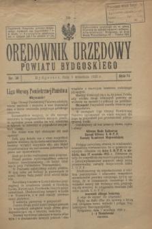 Orędownik Urzędowy Powiatu Bydgoskiego. R.74, nr 36 (9 września 1925)