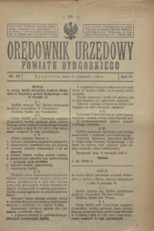 Orędownik Urzędowy Powiatu Bydgoskiego. R.74, nr 38 (23 września 1925)