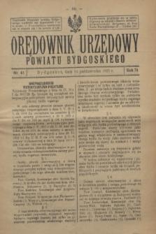 Orędownik Urzędowy Powiatu Bydgoskiego. R.74, nr 41 (14 października 1925)