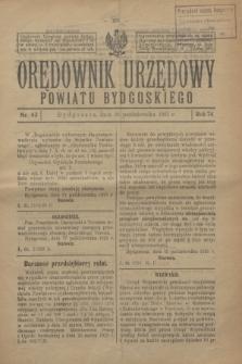 Orędownik Urzędowy Powiatu Bydgoskiego. R.74, nr 43 (28 października 1925)