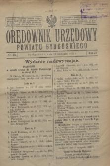 Orędownik Urzędowy Powiatu Bydgoskiego. R.74, nr 46 (14 listopada 1925)