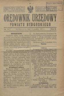 Orędownik Urzędowy Powiatu Bydgoskiego. R.74, nr 51 (16 grudnia 1925)