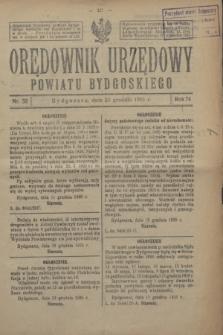 Orędownik Urzędowy Powiatu Bydgoskiego. R.74, nr 52 (23 grudnia 1925)