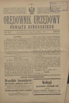 Orędownik Urzędowy Powiatu Bydgoskiego. R.74, nr 53 (30 grudnia 1925)