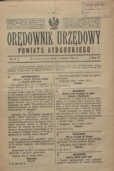 Orędownik Urzędowy Powiatu Bydgoskiego. R.75, nr 9 (3 marca 1926)
