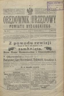 Orędownik Urzędowy Powiatu Bydgoskiego. R.75, nr 10 (10 marca 1926)