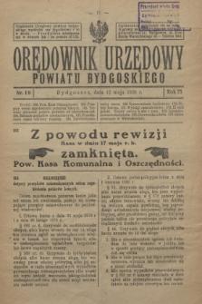 Orędownik Urzędowy Powiatu Bydgoskiego. R.75, nr 19 (12 maja 1926)