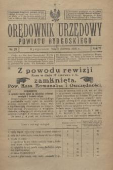 Orędownik Urzędowy Powiatu Bydgoskiego. R.75, nr 23 (9 czerwca 1926)