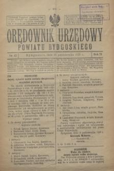 Orędownik Urzędowy Powiatu Bydgoskiego. R.75, nr 42 (20 października 1926)