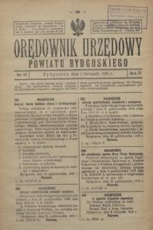 Orędownik Urzędowy Powiatu Bydgoskiego. R.75, nr 44 (3 listopada 1926)