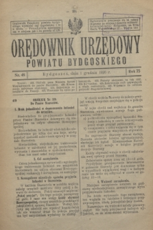 Orędownik Urzędowy Powiatu Bydgoskiego. R.75, nr 48 (1 grudnia 1926)