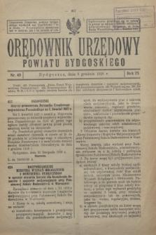Orędownik Urzędowy Powiatu Bydgoskiego. R.75, nr 49 (8 grudnia 1926)