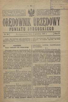 Orędownik Urzędowy Powiatu Bydgoskiego. R.75, nr 50 (15 grudnia 1926)