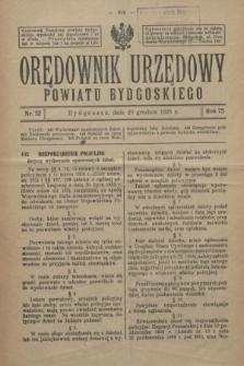 Orędownik Urzędowy Powiatu Bydgoskiego. R.75, nr 52 (29 grudnia 1926)