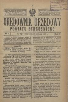 Orędownik Urzędowy Powiatu Bydgoskiego. R.76, nr 3 (19 stycznia 1927)