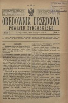 Orędownik Urzędowy Powiatu Bydgoskiego. R.76, nr 32 (3 sierpnia 1927)