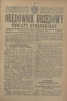 Orędownik Urzędowy Powiatu Bydgoskiego. R.77, nr 49 (21 listopada 1928)