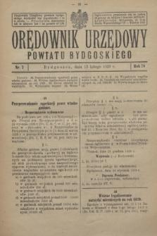 Orędownik Urzędowy Powiatu Bydgoskiego. R.78, nr 7 (13 lutego 1929)