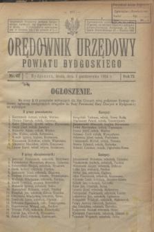 Orędownik Urzędowy Powiatu Bydgoskiego. R.73, nr 42 [i.e. 41](1 października 1924)