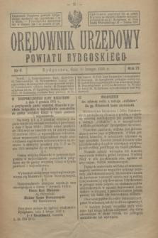 Orędownik Urzędowy Powiatu Bydgoskiego. R.75, nr 6 (10 lutego 1926)