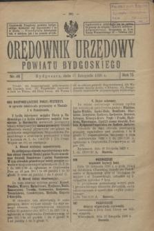 Orędownik Urzędowy Powiatu Bydgoskiego. R.75, nr 46 (17 listopada 1926)