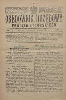 Orędownik Urzędowy Powiatu Bydgoskiego. R.78, nr 3 (16 stycznia 1929)