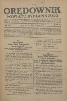 Orędownik Powiatu Bydgoskiego : wychodzi raz tygodniowo i to w środę. R.79, nr 20 (7 maja 1930)