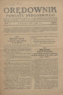 Orędownik Powiatu Bydgoskiego : wychodzi raz tygodniowo i to w środę. R.86, nr 18 (5 maja 1937)