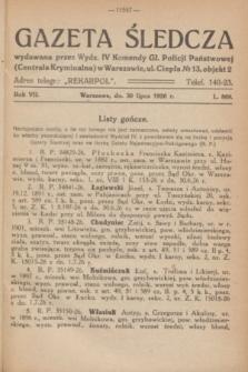 Gazeta Śledcza. R.7, L. 869 (30 lipca 1926)