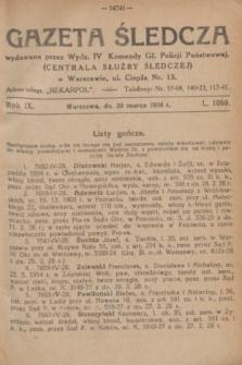 Gazeta Śledcza. R.9, L. 1068 (20 marca 1928)
